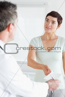 Charming Woman receiving a prescription