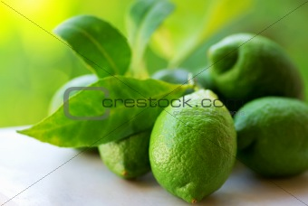Green lemons group.