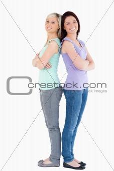 Cute women posing