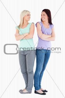 Charming women posing