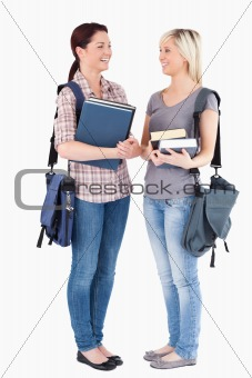 Charming College students posing