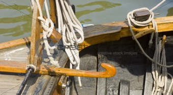 Details of an old Dutch sailing boat