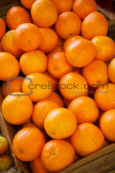 Navel Oranges in a crate