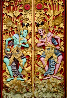carvings in temple bali indonesia