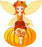 Autumn fairy girl