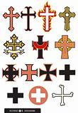 Set of 14 Cross designs