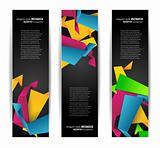 Set of abstract modern header banner