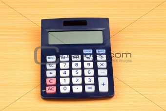 Photo of a calculator