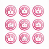 pink crown signs