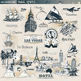 Vintage travel symbols