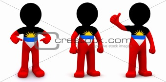 3d character textured with flag of Malawi