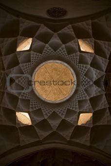 ceiling in esfahan isfahan iran