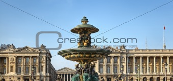 Fountain at Place de la concorde, Paris