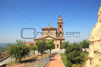 Old church in Diano D'Alba, Italy.