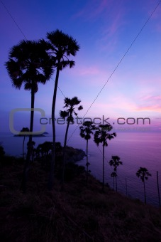 phuket island in twilight time