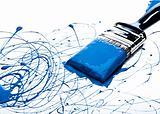 Blue Paint on Paint Brush