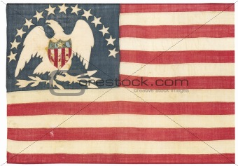 Vintage american flag - distressed grunge usa