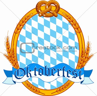 Oktoberfest  oval  label design