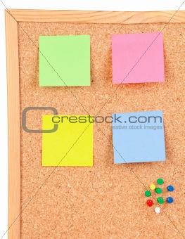 Four colour post-it