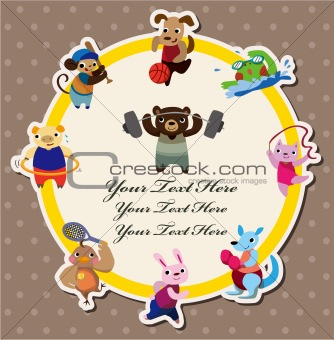 cartoon animal sport card