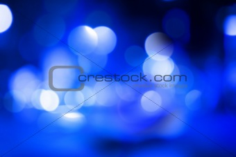 Blue abstract bokeh background