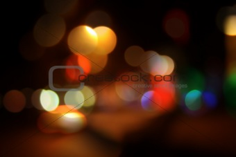 night city bokeh background