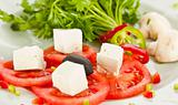 Tomato and cheese salad