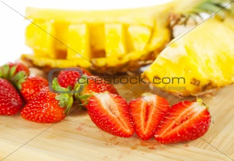 strawberries pineapples