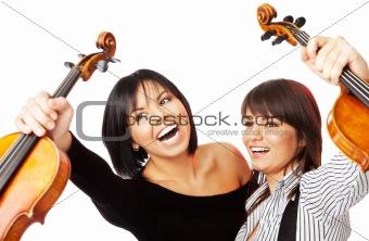 happy violinists graduates