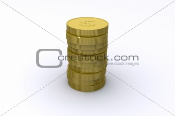 Cents Coin Stack