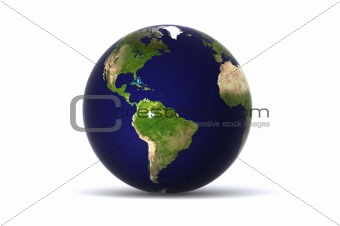 Earth Globe USA