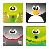 Wild animals - set icon 3