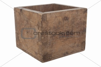 Old empty wooden box