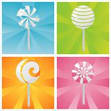 colorful lollipops backgrounds