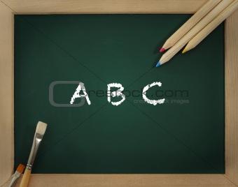 Green clear blackboard