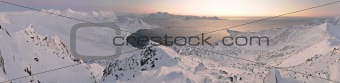 Arctic winter landscape - PANORAMA