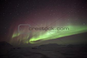 Aurora Borealis - northern lights - Svalbard, Spitsbergen, Arctic
