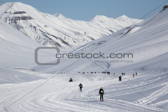 Arctic ski marathon - Longyearbyen, Svalbard