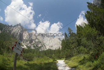 Alpine mountain summer landscape