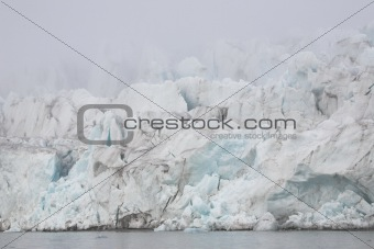 Arctic glaciers in the mist