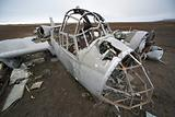 Old nazi aircraft wreck, Junkers Ju-88 - Arctic, Spitsbergen