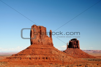 East and West Mittens of the Monument Valley