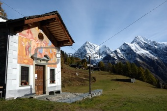 Small mountain church