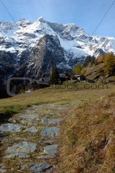Mountain village house