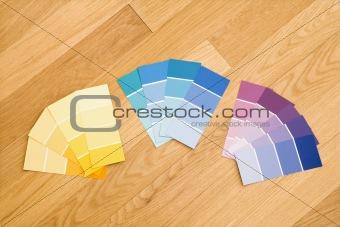 Paint color swatches.