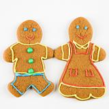 Gingerbread couple.
