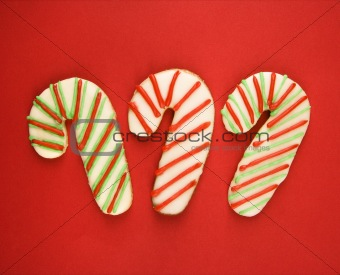 Candy cane cookies.