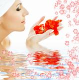 red petals in water #3
