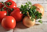 Tomatoes, onions and parsley