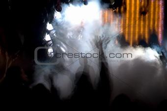Foggy Dance Crowd